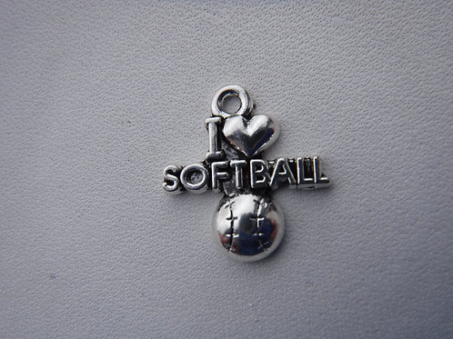 """I Love Softball"" Charm"