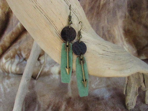 Genuine Bison/Cowhide Leather Earrings
