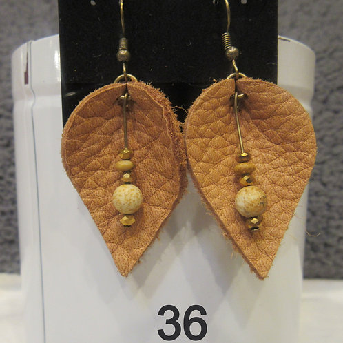 Genuine Cowhide Leather Earrings