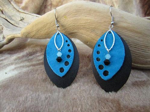 Genuine Bison/Cowhide Leather Earrings