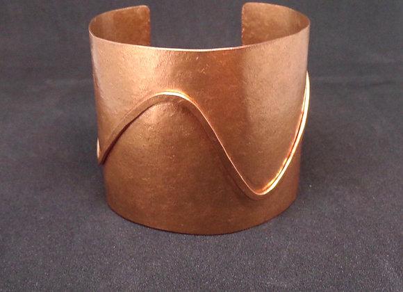 Copper Line Cuff