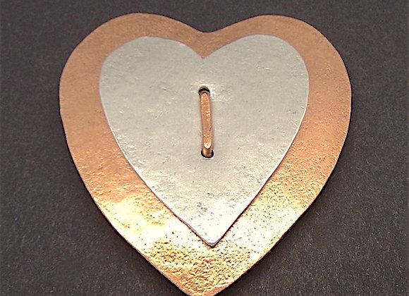 Copper Heart Brooch