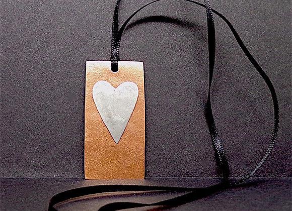Rectangle Heart Pendant