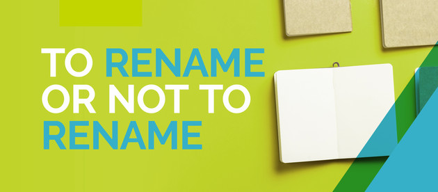 To rename or not to rename