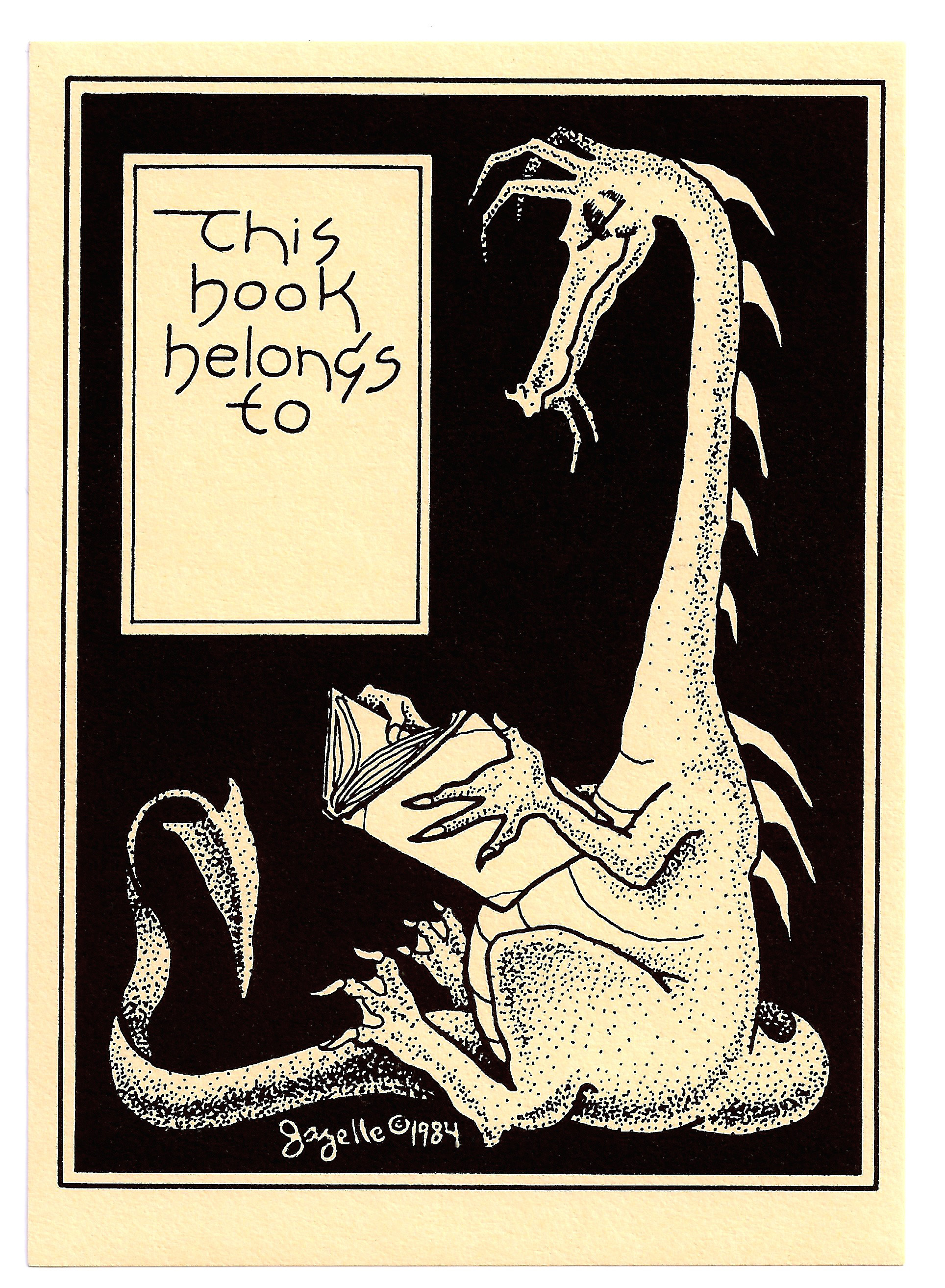 Dragon Bookplate