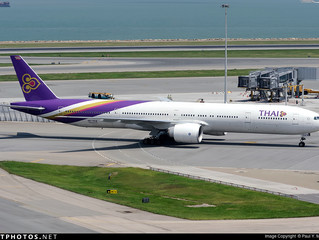 Thai Airways International S18 Hong Kong aircraft change