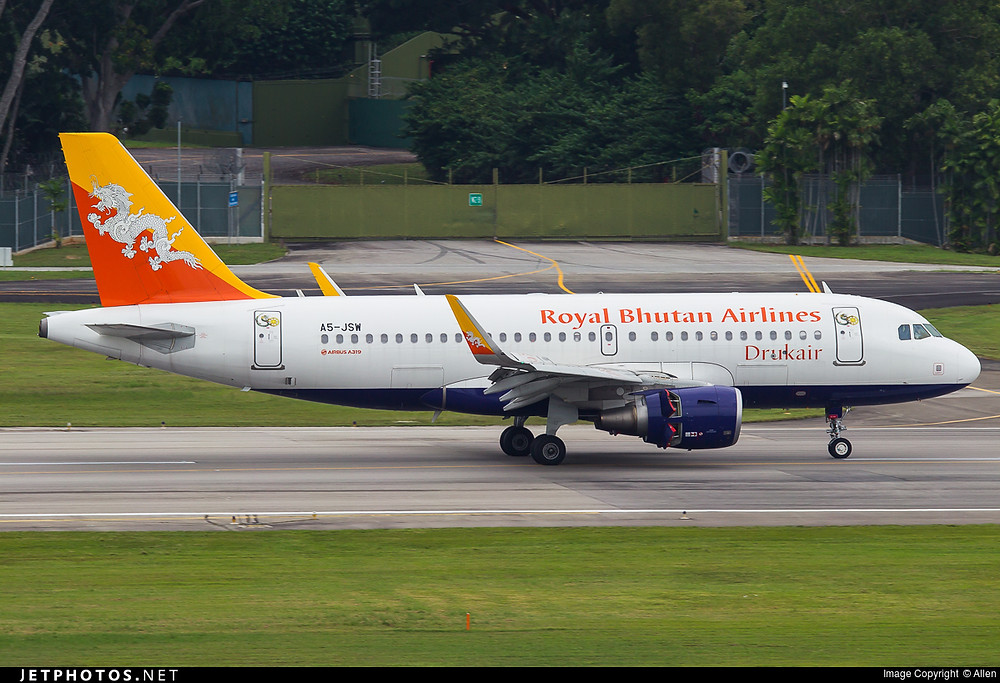 Druker Royal Bhutan Airlines A319