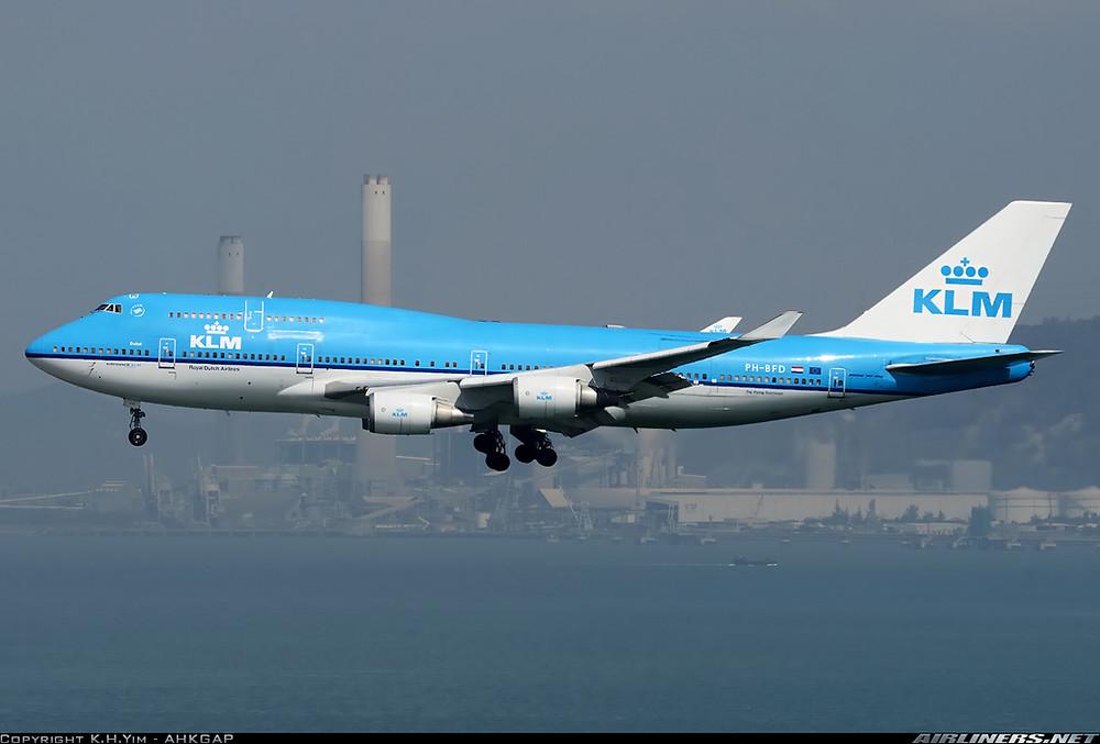 KLM B747-400M