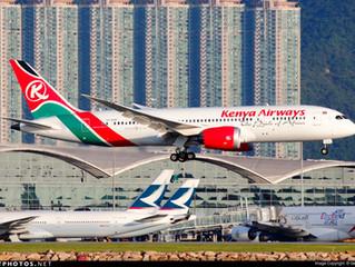 Kenya Airways W17 East Asia service changes