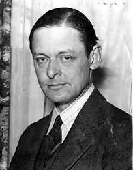 T.S.Eliot IN BLACK AND WHITE PHOTO