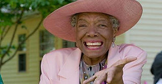 Maya Angelou IN A HAT