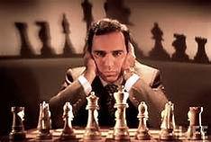 garry kasparov and chess set