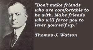 Thomas J Watson with quote