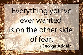 George Addair fear quote sign