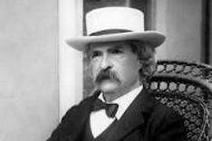 Mark Twain in a hat