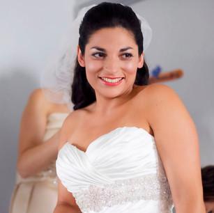 Bridal Half up Hair Style and Beautiful Makeup