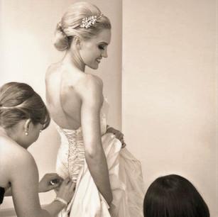 Bridal Chignon Hair up and Bridesmaids