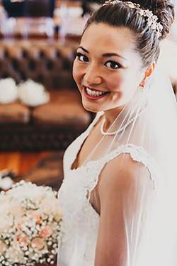 Bridal wedding hair and airbrush mak