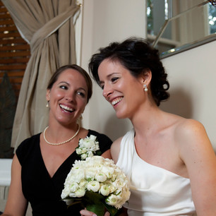 Bridal hair-up and  natural makeup