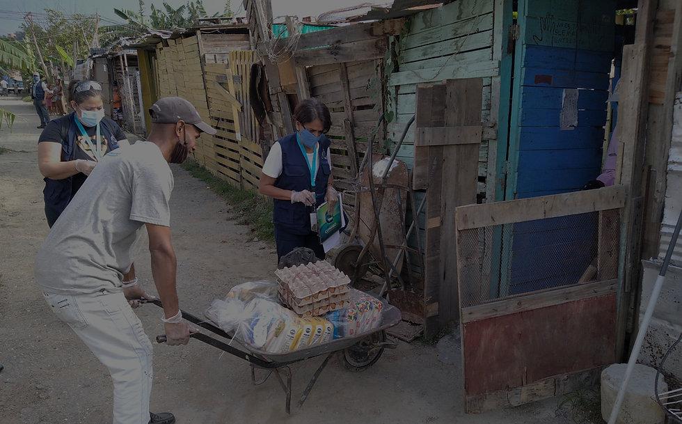 delivering food for vulnerable people in Venezuela