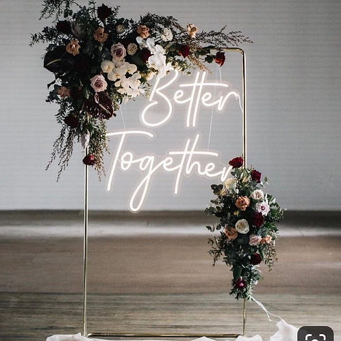 Wedding collection: Better together neon