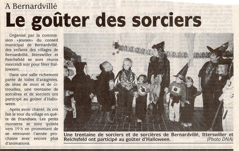 Le goûter des sorciers 2001 Bernardvillé