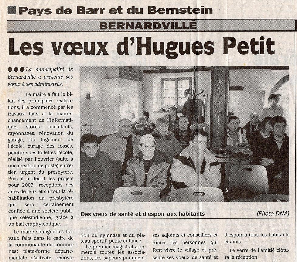 Les voeux d'Hugues Petitit 18 janvier 20