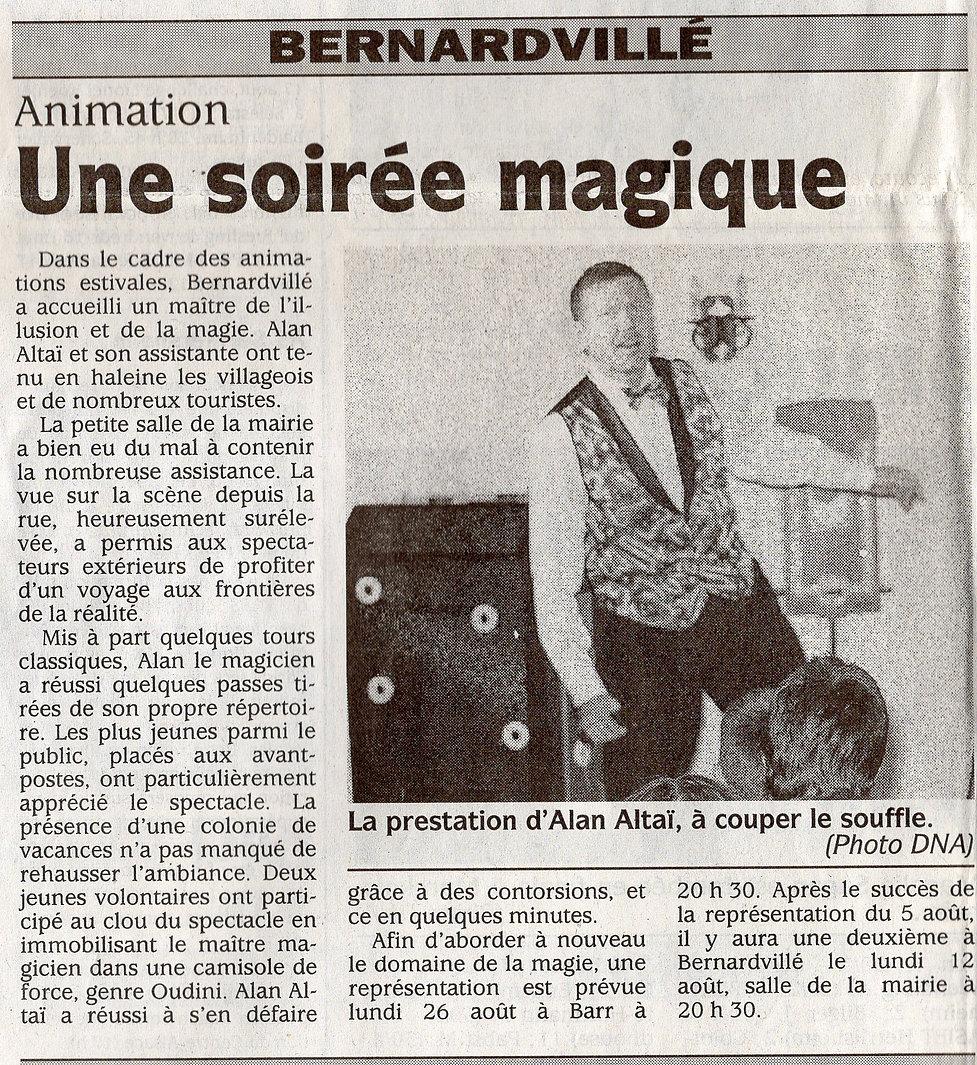 Une soirée magique 2002 Bernardvillé (Co