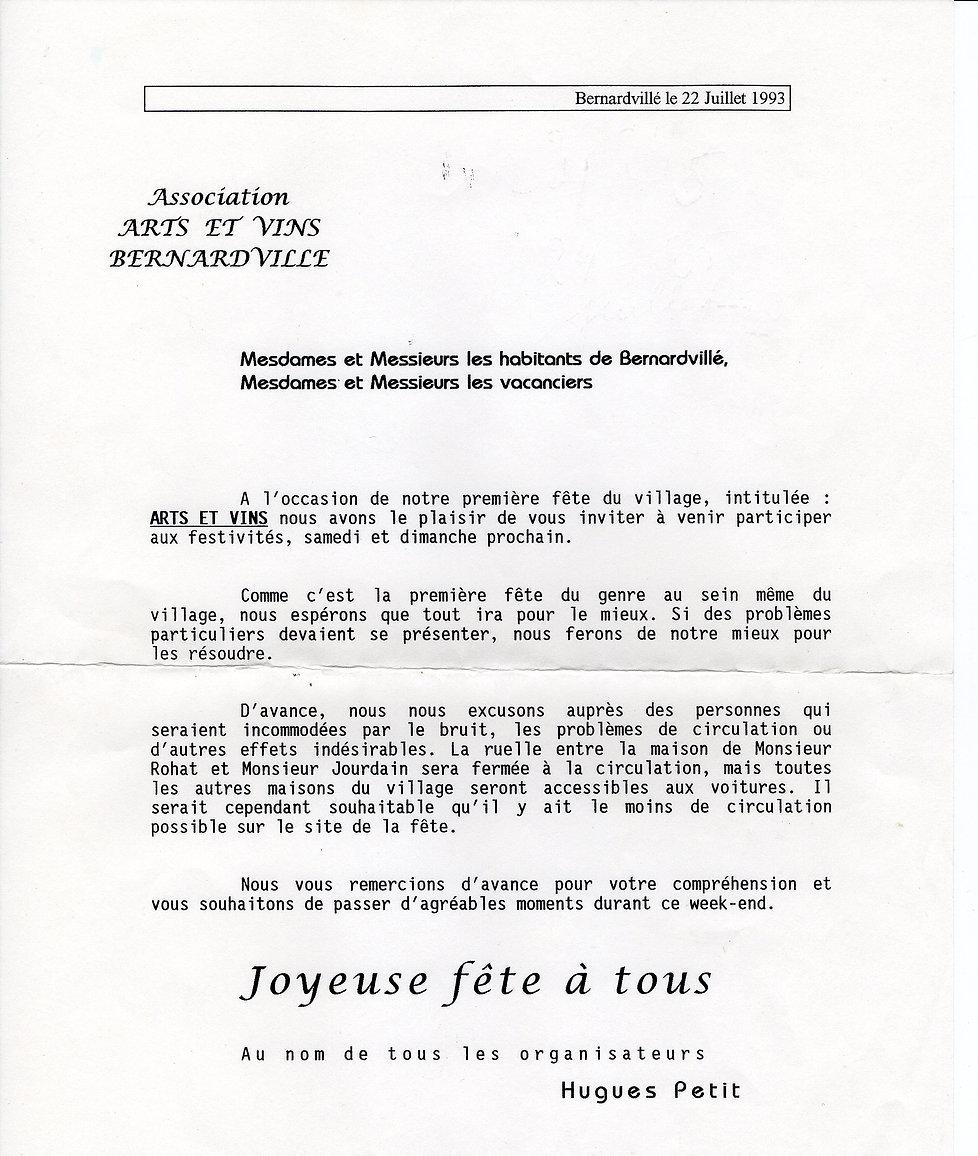 Invitation Arts et Vins Bernardvillé410