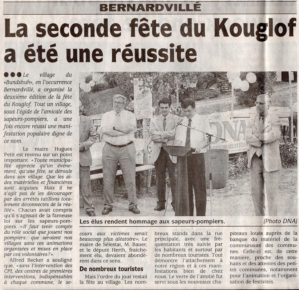 Fête du Kouglof 2002 Bernardvillé445 (Co