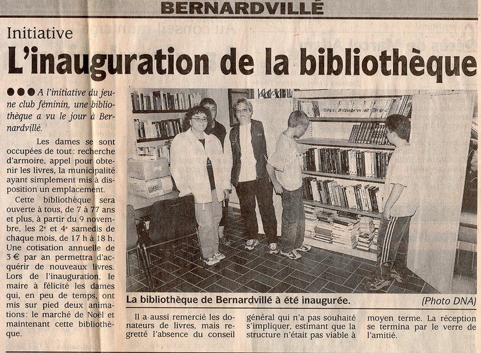 Inauguration de la bibliothèque 2002 Ber