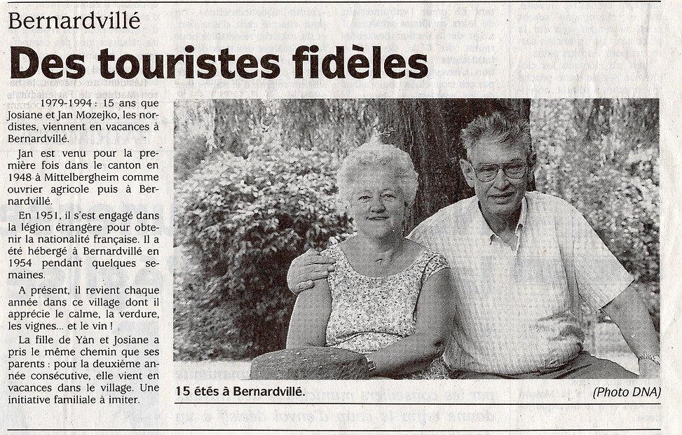 Des touristes fidèles Bernardvillé 419 (