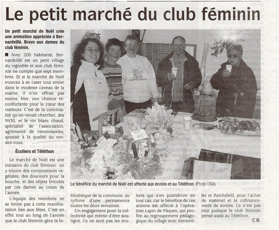 Marché de Noël 2005 Bernardvillé (Copier