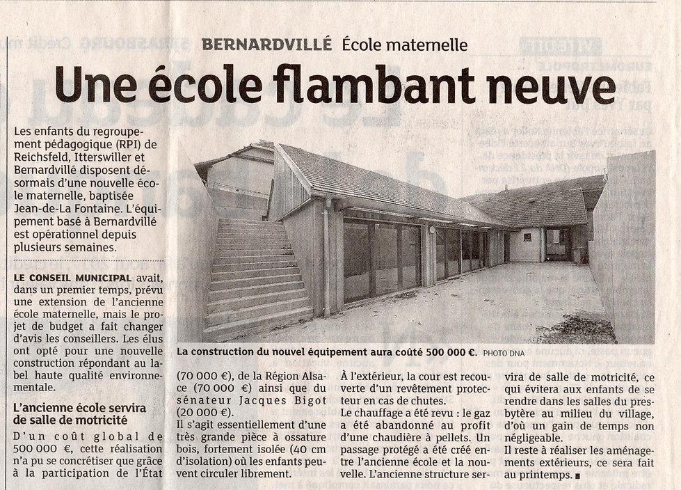 La nouvelle école maternelle 2016 Bernar