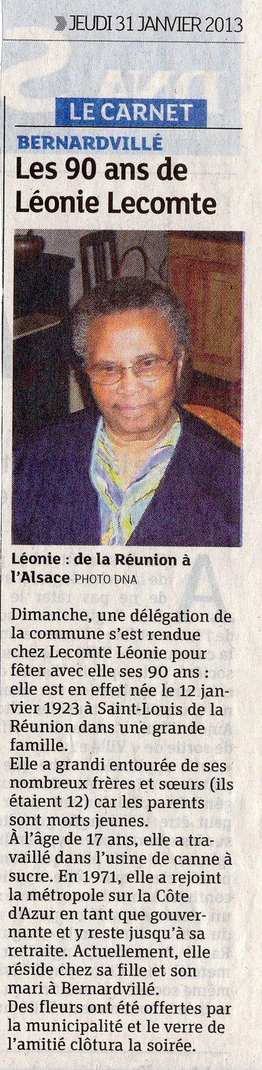 Les 90 ans de Léonie Lecomte 2013 Bernar