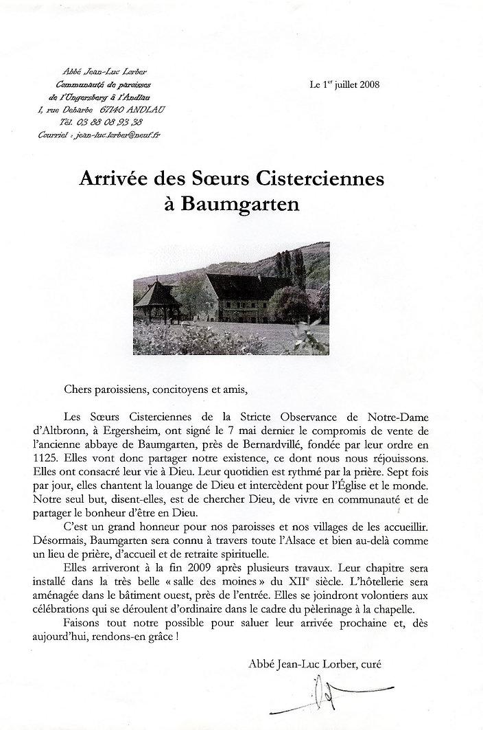 Arrivée des soeurs cisterciennes199 (Cop