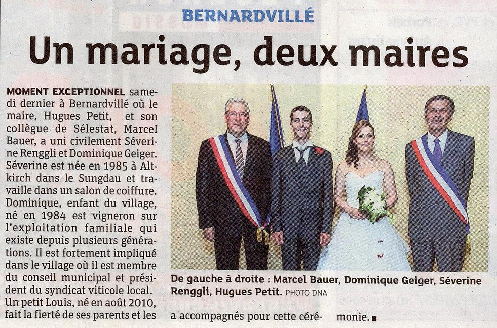 Mariage Dominique et Séverine 2012 Berna