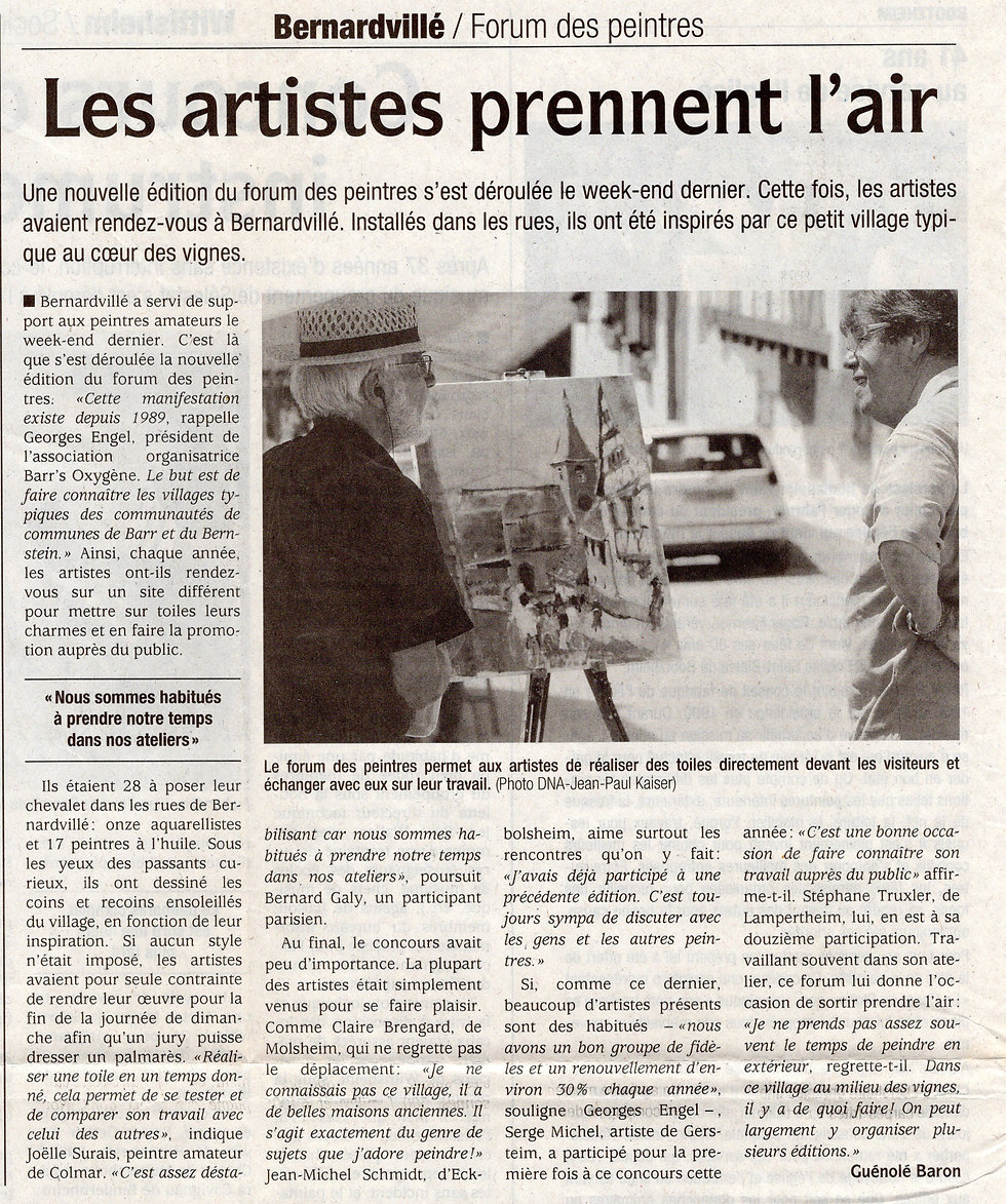 Forum des peintres 2008 Bernardvillé (Co