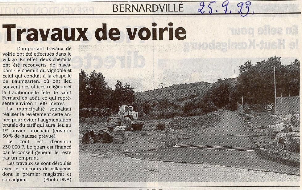 Travaux de voirie Bernardvillé Bernardvi