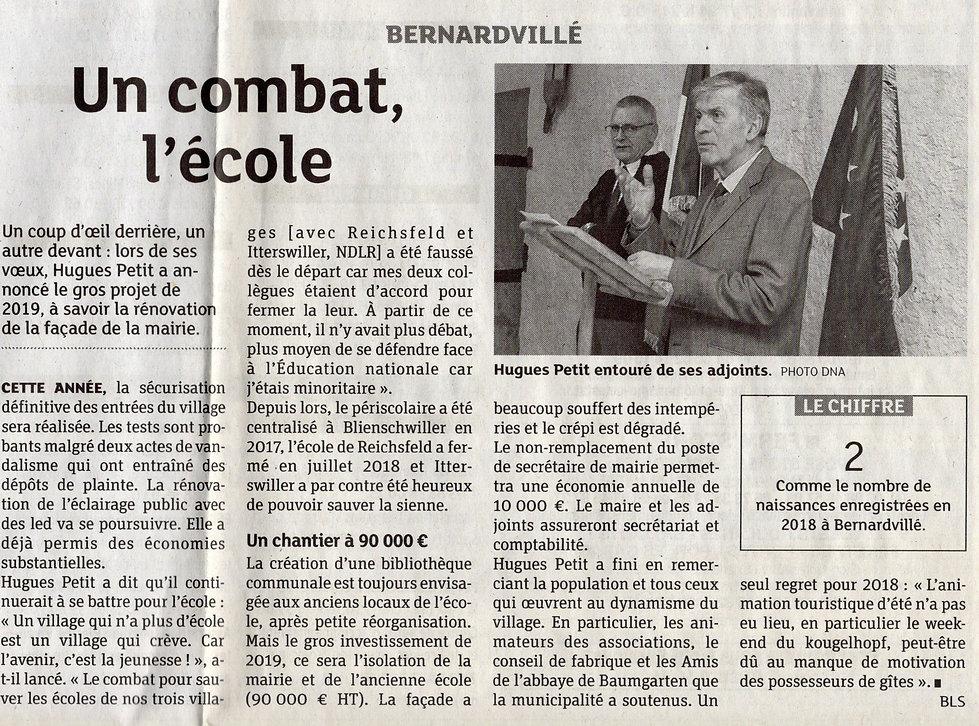 Un combat pour l'école Bernardvillé454 (