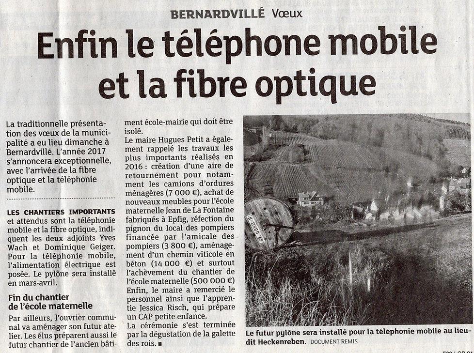Mobile et fibre optique Bernardvillé (Co