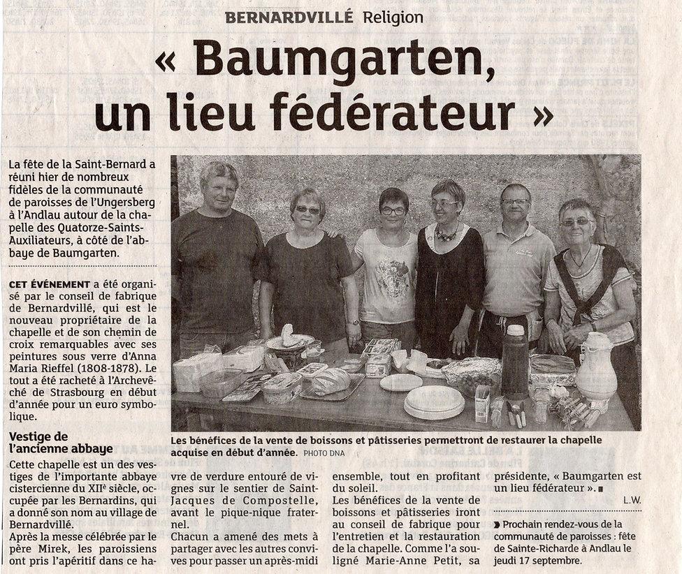 Fête st Bernard Baumgarten Bernardvillé