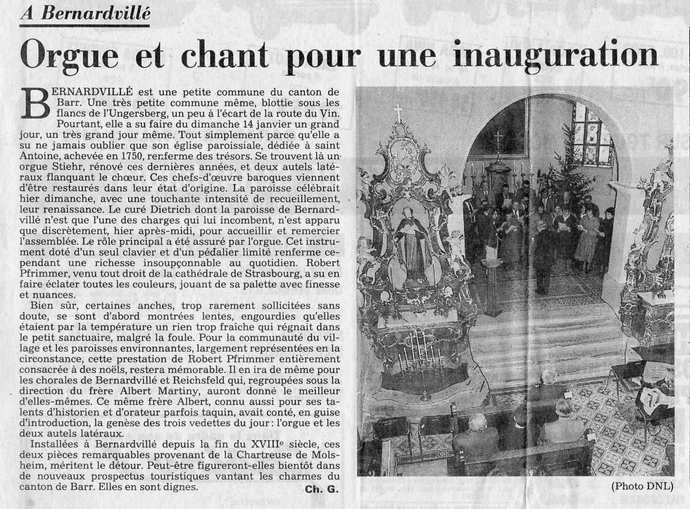 Inauguration de l'orgue Bernardvillé 15