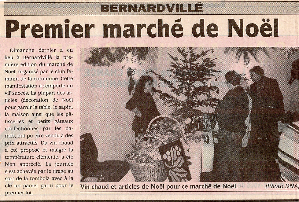 Le premier marché de Noël 2001 Bernardvi