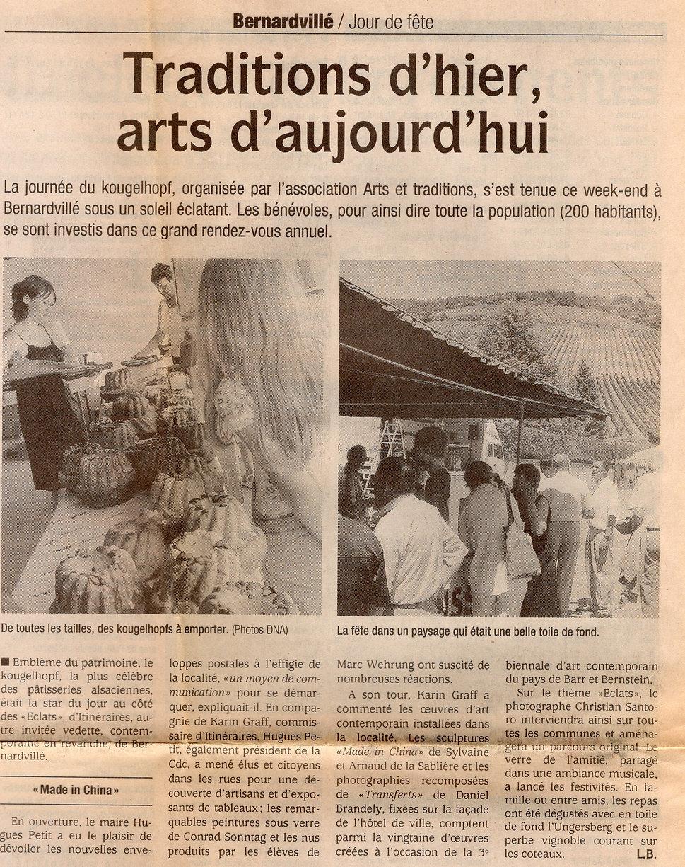 Journée du kouglof 2006 Bernardvillé471