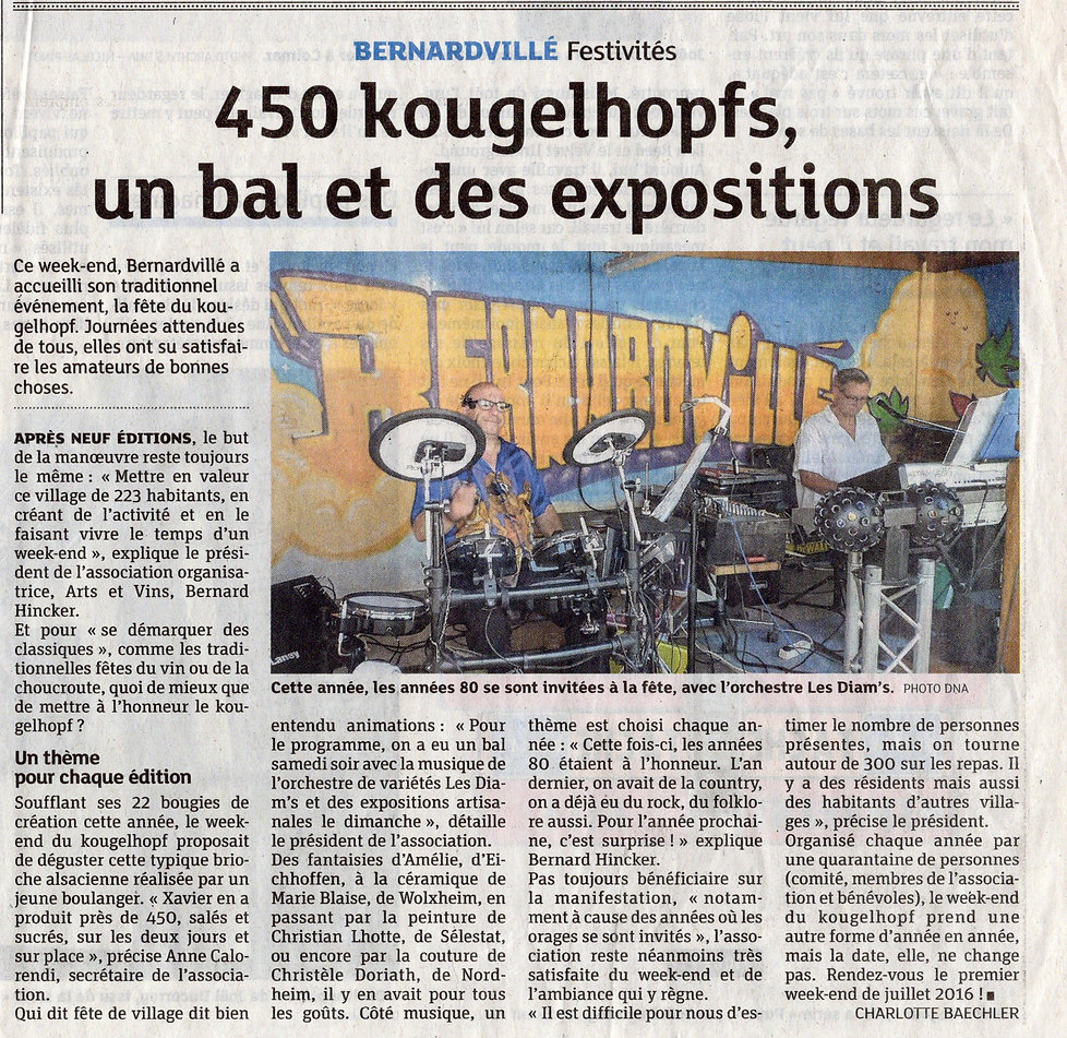 Arts et vins  450 Kougelhofs  Bernardvil