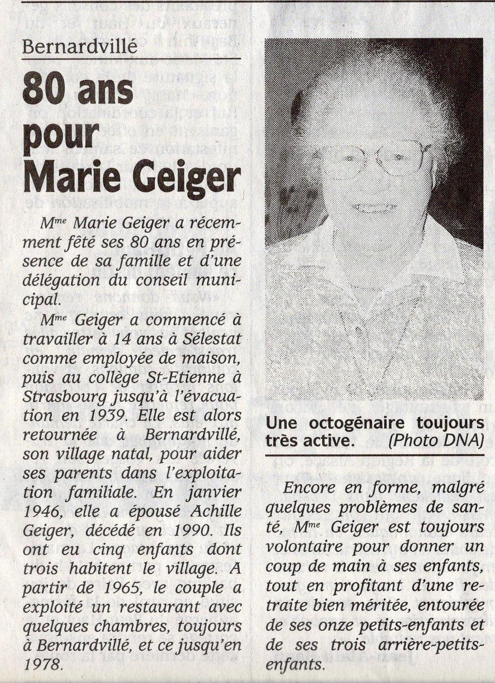 Les 80 ans de Marie Geiger 2001 Bernardv