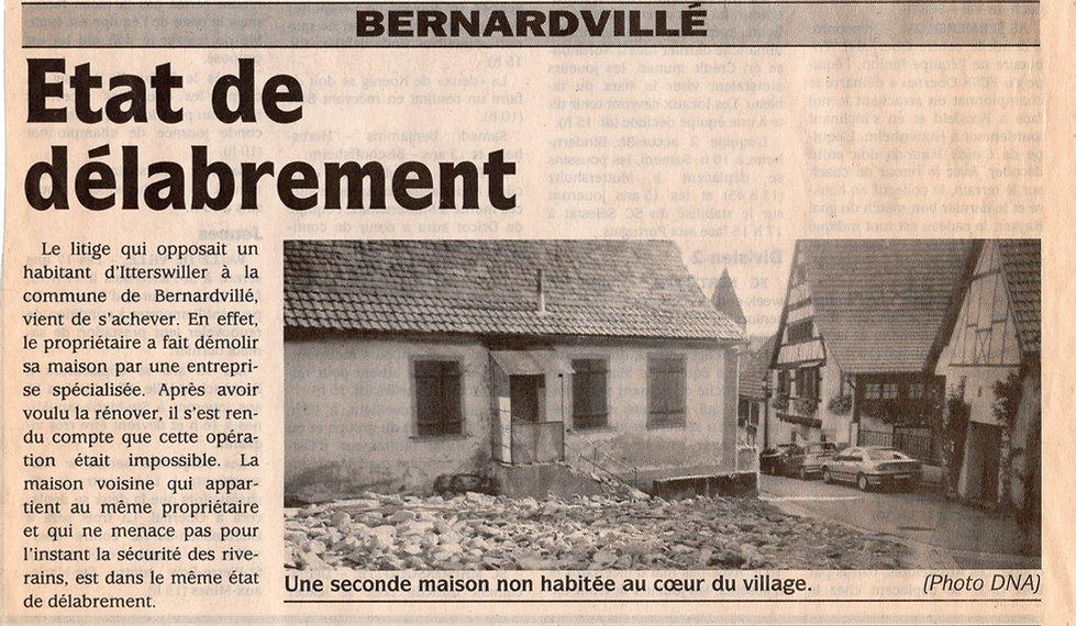 Etat de délabrement  Bernardvillé (Copie