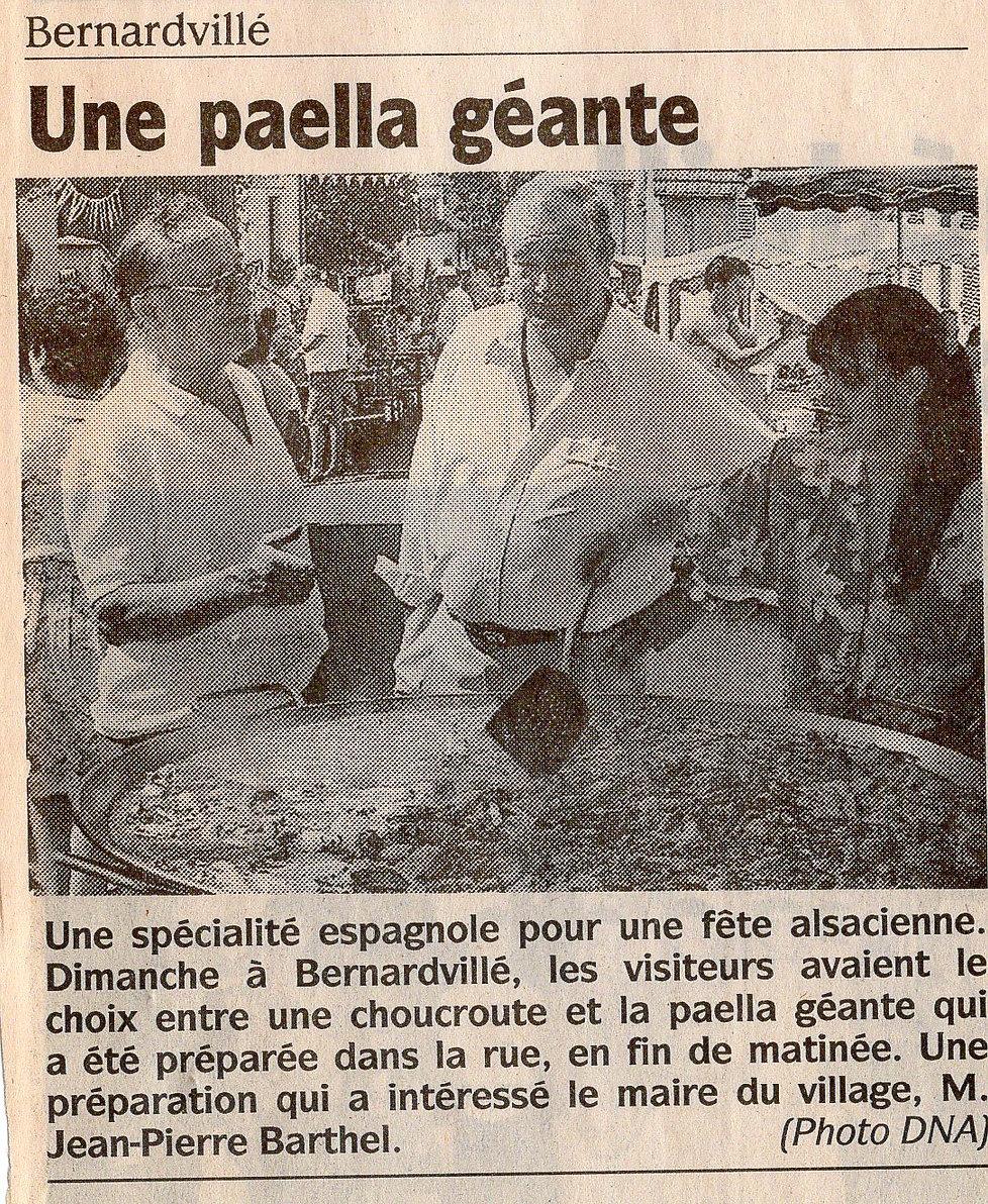 Une Paella géante à Bernardvillé (Copier