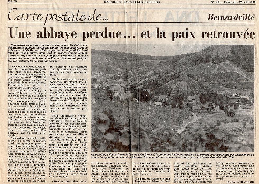 Une carte postale de Bernardvillé 12 aoû